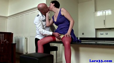 Stocking, English, Ass licking, Queen, Mature stocking, Lick stockings