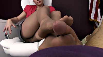 Nylon footjob, Nylon foot, Pantyhose footjob, Nylon feet, Pantyhose feet, In pantyhose
