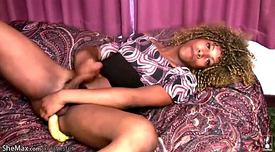 Tranny, Black shemale, Banana, Pantyhose sex, Black tranny, Pantyhose masturbation