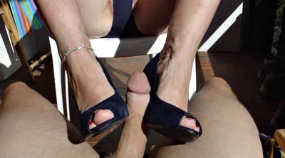 Footjob, Milf footjob, German feet