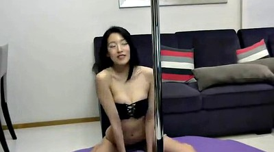 Striptease, Chinese couple, Chinese blowjob, Chinese m