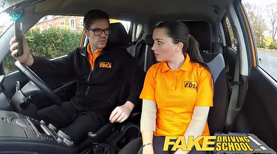 Fake, Clothed, Fake driving, Driving school, Driving