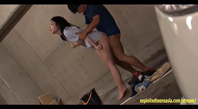 Enema, Student, Car, Japanese squirt, Japanese enema, Peeing japanese