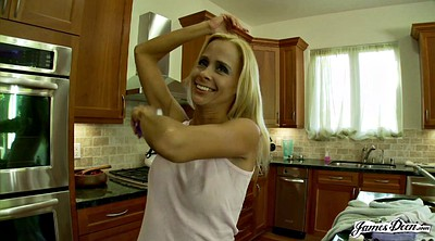 Blonde cougar, Mature tease