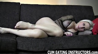 Eat cum, Fishnet, Cum eating