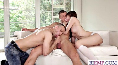 Amateur threesome, Curious, Bisexual couple