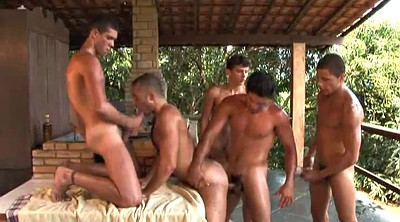 Outdoor gangbang, Take turn, Take turns, Ass gangbang