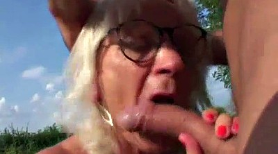 Mature outdoor, Hairy young, Granny outdoor