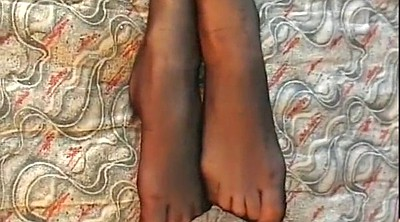 Feet, Stockings ebony, High