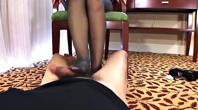 Pantyhose foot, Pantyhose feet, Footjob pantyhose