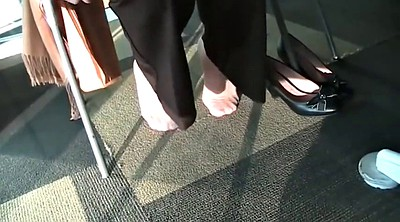 Nylon feet, Library, Candid, Feeting, Candid feet