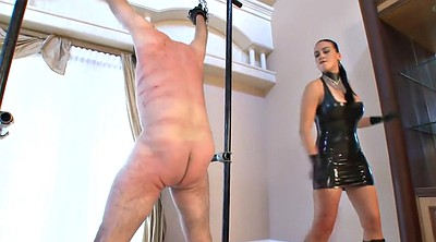 Whip, Male, Whipped, Mistress whipping, Latex mistress, Femdom whip