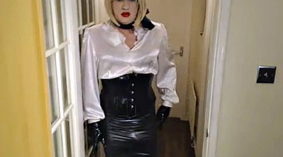 Satin, Secretary, Blouse, Satin lingerie, Pvc