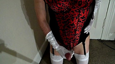Stocking, Crossdresser, White stocking, White stockings, Gay crossdresser