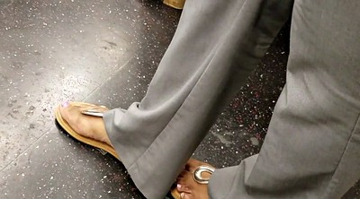 Candid, Riding compilation, Amateur feet, Ebony feet, Candid feet