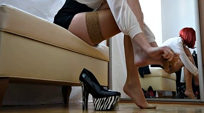 Stockings, High heels