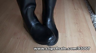 Boots, Latex boots, Rubber, Boot fetish