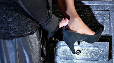 Nylon feet, Gay feet, Nylon handjob