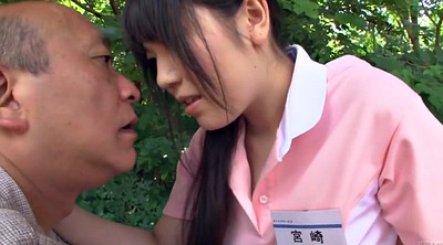 Japanese old, Japanese gay, Outside, Young japanese