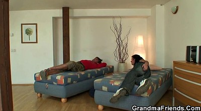 Old woman, Mature woman, Clean, Young woman, Young threesome, Old mature
