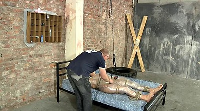 Milking, Tied, Old young gay, Old gay