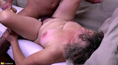 Granny, Old dick, Mature hairy