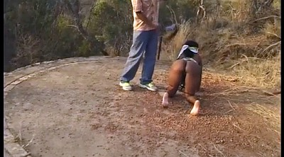 African, Ass spank, Leash