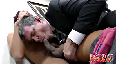 Dad, Asian old, Young dad, Old asian, Asian interracial