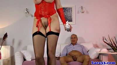 Mature stockings, Black anal