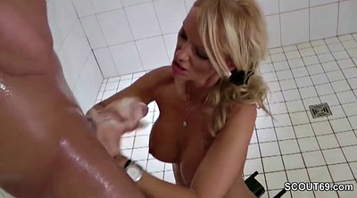 Step mom, Help, German mom, Mom caught, Shower caught, Old mom