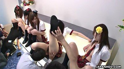 Japanese teen, Japanese pussy, Uniform, Japanese orgy, Japanese group, Hairy lick