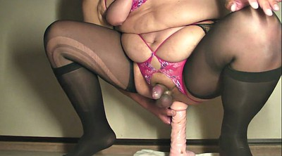 Milking, Riding dildo, Prostate