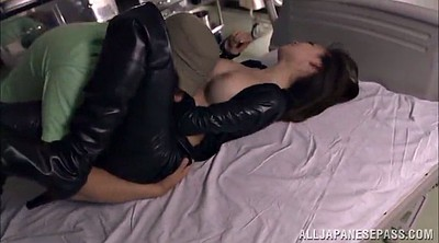 Leather, Asian chubby, Hairy tits
