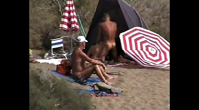 Public, Nudist, Amateur couple