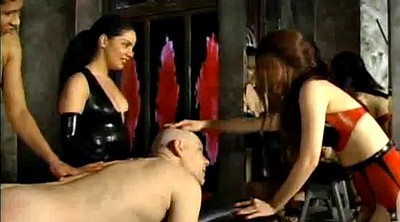 Spanking, Bdsm latex, Three, Dominatrix