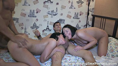 Double penetration, Teen foursome, College couple, Teen party