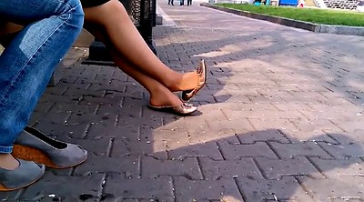 Voyeur, Teen foot, Shoeplay, Flat