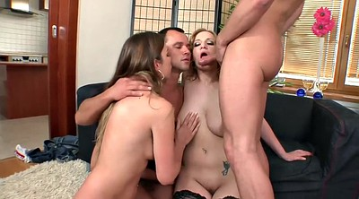 Group anal, Foursome anal, His, Massive tits, Anal foursome, Four girls