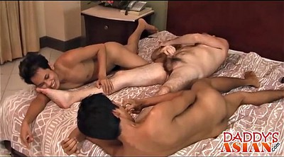 Tickle, Tickling, Asian bondage, Tickled, Three some, Gay bondage