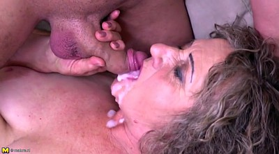 Granny, Old and young, Old and, Cum eating