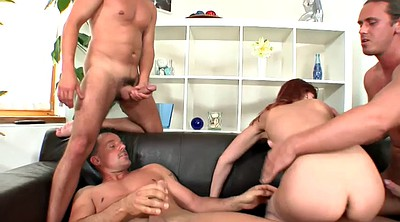 Double blowjob, Group anal, Gangbang anal, Empty tits