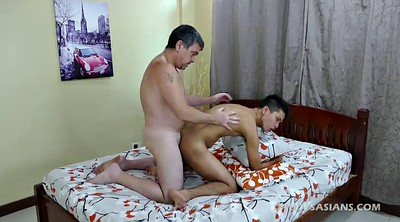 Asian, Old dad, Asian boy, Mike, Fingering, Daddy old