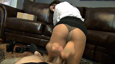 Footjob, Pantyhose foot, Pantyhose feet, Pantyhose footjob