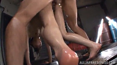 Asian oil, Asian threesome, Asian double penetration