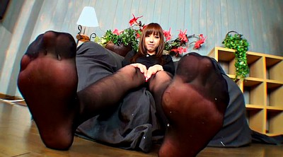 Pantyhose, Japanese foot, Japanese pantyhose, Pantyhose foot, Feed, Pantyhose girl