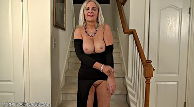 Big boobs, Strip, Heels, Close, Black granny