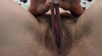Stretching pussy, Very hairy, Pussy lips, Lip