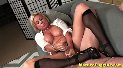 Handjob, Mature masturbating