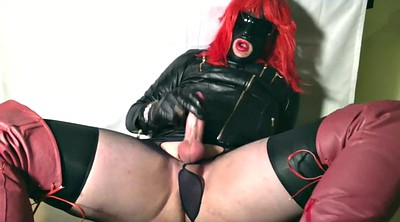 Milk, Gloves, Glove, Crossdressers, Gloves handjob, Milking cock