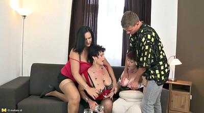 Granny, Old milf, Young mom, Mom and boy, Amateur mom